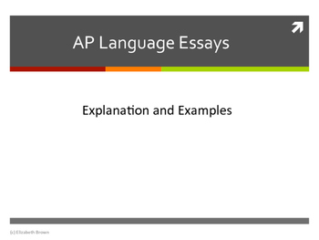 AP Language Essays Overview PowerPoint