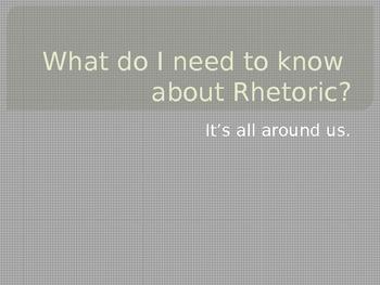 AP Language: Mini-Lesson on Rhetoric