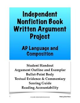 AP Language & Composition Independent Nonfiction Book Written Argument; AP Lang