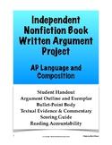 AP Language & Composition Independent Nonfiction Book Writ