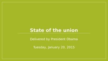 AP Language- Political Rhetoric in Obama's 2015 State of the Union Address