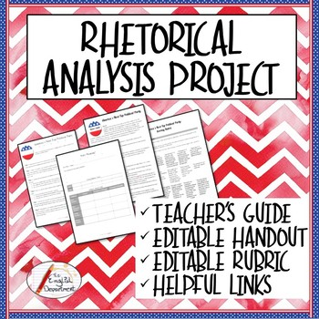 AP Language Project For Rhetorical Analysis Basics By The English Department