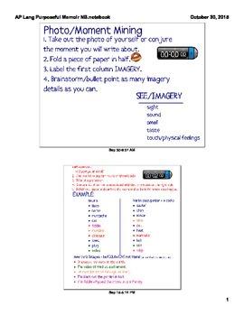 AP Language Purposeful Memoir Smart Notebook