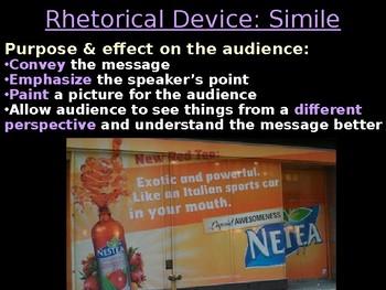 AP Language Rhetorical Devices & Effects