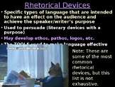 AP Language Rhetorical Devices & Effects