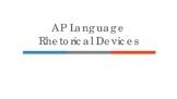 AP Language Rhetorical Devices Presentation