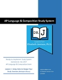 AP Language Study System: Lesson 1 (Using Data to Design Y