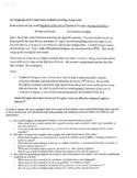AP Language Summer Assignment