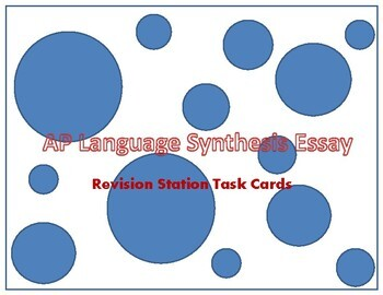 AP Language Synthesis Essay Assessment Task Cards