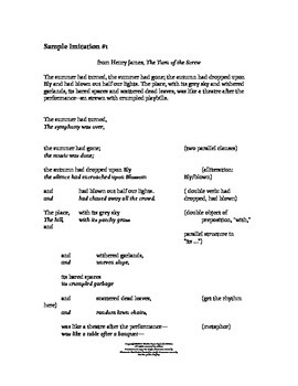 AP Language Activity for Teaching Style