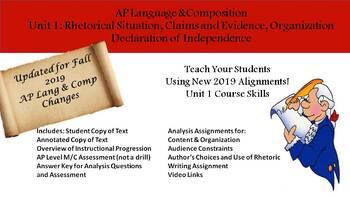 AP Language and Composition: 2019 Updated Unit 1 Lesson Set Complete