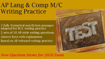AP Language and Composition: 2020 M/C Writing Drills #1