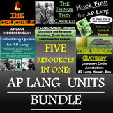 AP Language and Composition (AP Lang) Bundle - The Crucible, Huck, TTTC, More!