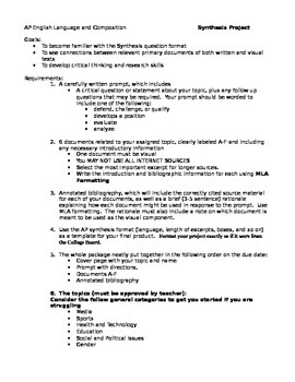 English Essays For Students  Example Of Thesis Statement For Essay also Essay On Health Awareness Ap Language And Composition Create Own Synthesis Prompt Project With Rubric Writing Essay Papers