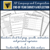AP English Language and Composition End-of-Year Survey & R