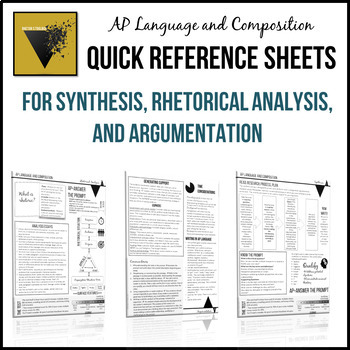 ap english language and composition essay quick reference sheets originaljpg