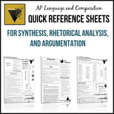 AP English Language and Composition Essay Quick Reference Sheets