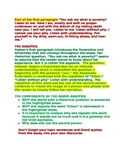 AP Language and Composition  How to Write a Language Analy