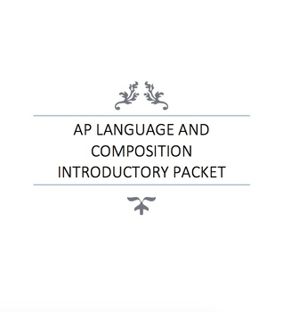 AP Language and Composition Introductory Packet