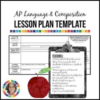 AP Language and Composition Lesson Plan Template