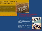 AP Language and Composition M/C Writing Drills Bundle- 202
