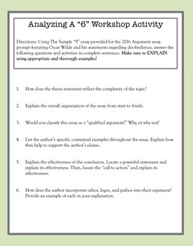 AP Language and Composition: Mastering the Argumentative Essay Activity Set