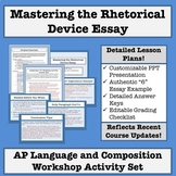 AP Language and Composition: Mastering the Rhetorical Device Essay Activity Set