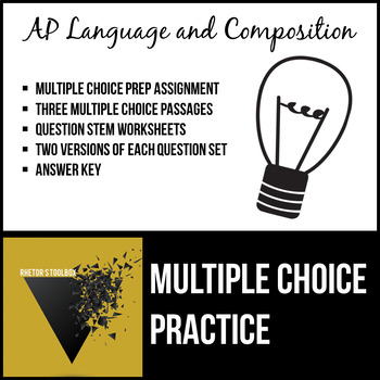 AP English Language and Composition Multiple Choice Practice Pack