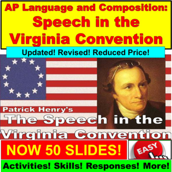AP Language and Composition, Patrick Henry, Speech in the Virginia Convention