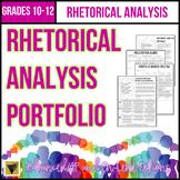 Differentiated Rhetorical Analysis Writing Portfolio for A