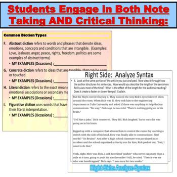 AP Language and Composition, Rhetorical Analysis Terminology