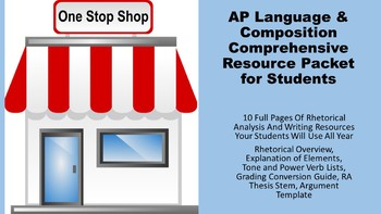AP Language and Composition Rhetorical Analysis and Writing Reference Packet