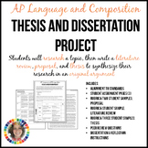 AP English Lang & Comp Thesis and Dissertation Research Synthesis Project