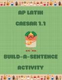 AP Latin Caesar 1.1 Build-a-Sentence Activity