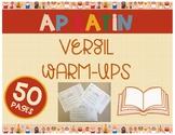 AP Latin Vergil Warm-ups