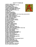 AP Level Vocabulary from The Scarlet Letter