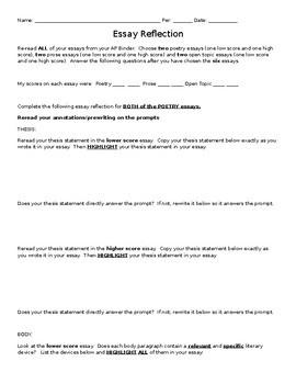 essay reflective essay english class self reflective essay