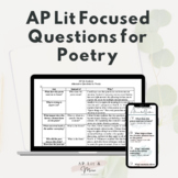 AP Lit Focused Questions for Poetry