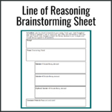 AP Lit Line of Reasoning Brainstorming Sheet