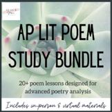 AP Lit Poem Study Bundle