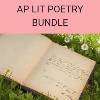 Poetry Bundle for AP Lit