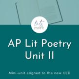 AP Lit Poetry II Bundle