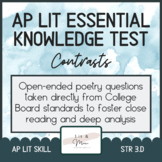 AP Lit Poetry Skill Test - Contrasts