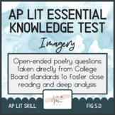 AP Lit Poetry Skill Test - Imagery