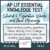 AP Lit Poetry Skill Test - Literal and Figurative Words