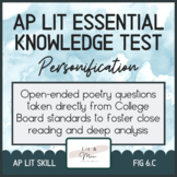AP Lit Poetry Skill Test - Personification