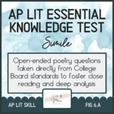 AP Lit Poetry Skill Test - Simile