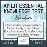 AP Lit Poetry Skill Test - Structure