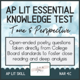 AP Lit Poetry Skill Test - Tone and Perspective