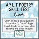 AP Lit Poetry Skills Test Bundle